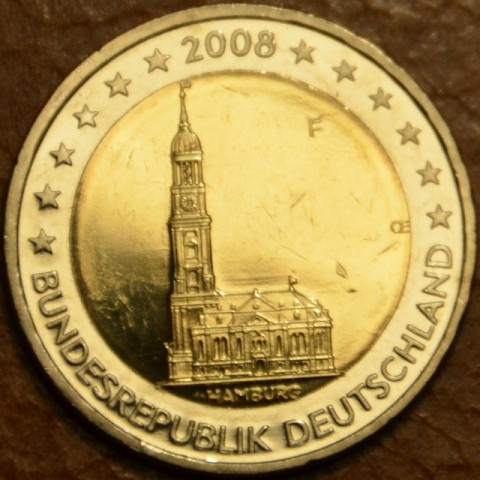 "2 Euro Germany ""F"" 2008 - Hamburg: St. Michaelis' Church (UNC)"