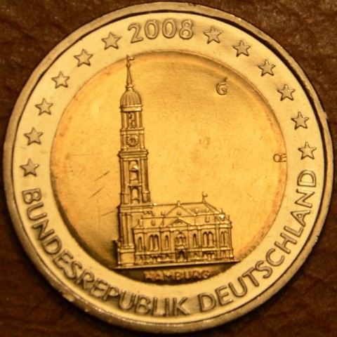 "2 Euro Germany ""G"" 2008 - Hamburg: St. Michaelis' Church (UNC)"