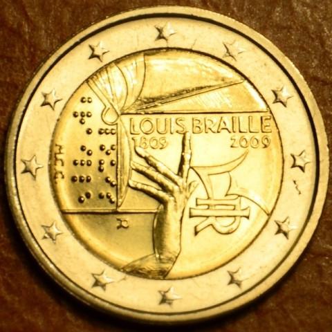 2 Euro Taliansko 2009 - 200. výročie narodenia Louisa Brailla (UNC)