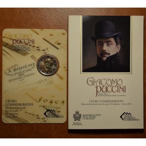2 Euro San Marino 2014 - 90. výročie úmrtia operného skladateľa Giacomo Pucciniho (BU)