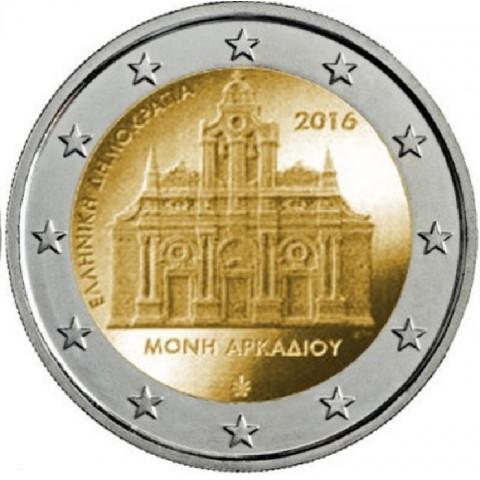 Predpredaj 11/2016 - 2 Euro Grécko 2016 - Kláštor Arkadi (UNC)
