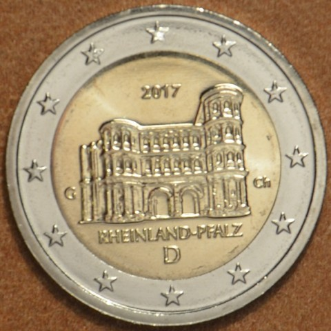 """2 Euro Germany """"G"""" 2017 - Rheinland-Pfalz: Porta Nigra (UNC)"""