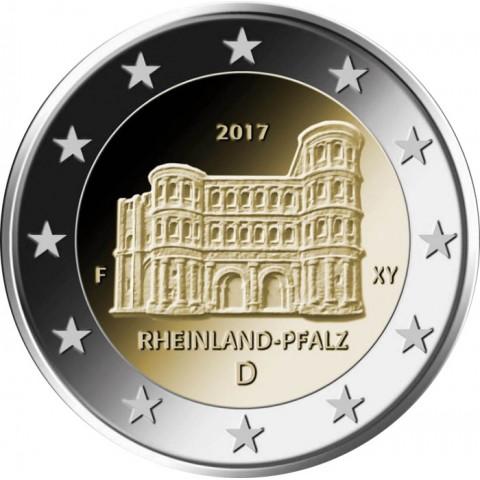 "2 Euro Germany ""A"" 2017 - Rheinland-Pfalz: Porta Nigra (UNC)"