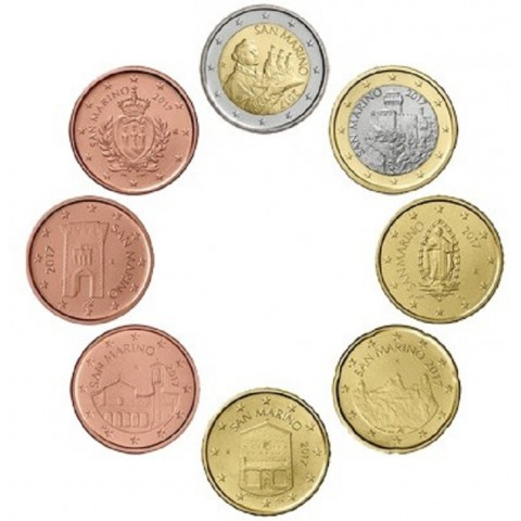 Sada 8 euromincí San Marino 2017 (UNC)