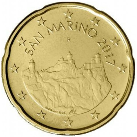 20 cent San Marino 2017 (UNC)