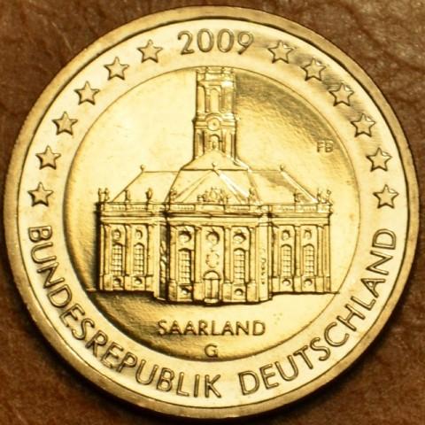 """2 Euro Nemecko """"G"""" 2009 - Sársko: Kostol Ludwigskirche (UNC)"""