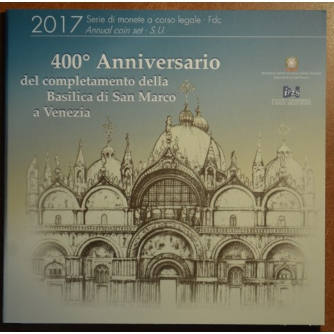 Italy 2017 official set with commemorative 2 Euro coin (BU)