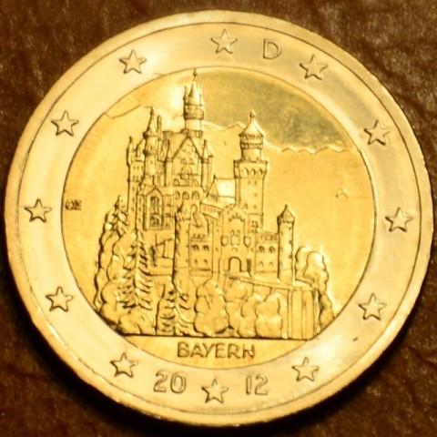 """2 Euro Germany """"A"""" 2012 - Bayern: Neuschwanstein (UNC)"""