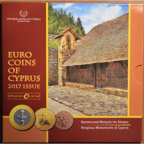 Sada 8 euromincí Cyprus 2017 (BU)