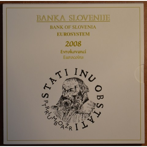 Set of 9 coins Slovenia 2008 (BU)