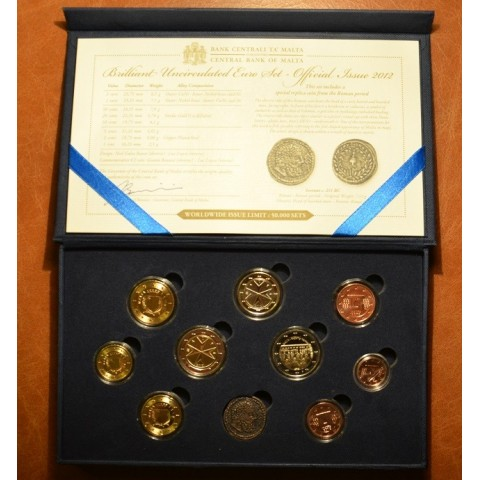 10 dielna sada obehových mincí Malta 2012 (BU)