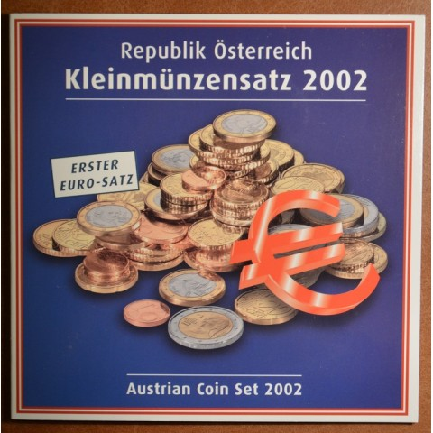 Set of 8 coins Austria 2002 (BU)