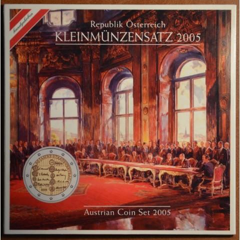 Sada 8 rakúskych mincí 2005 (BU)