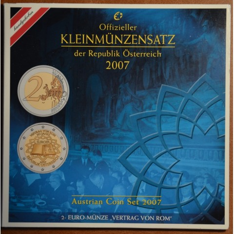 Set of 8 coins Austria 2007 (BU)