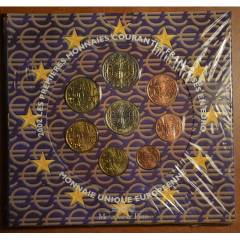 Official set of 8 French coins 2002  (BU)