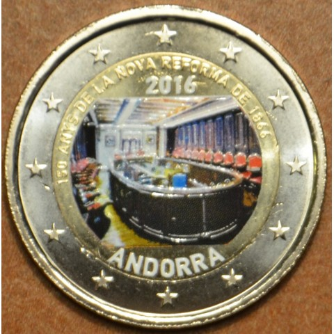 2 Euro Andorra 2016 - New reforms (colored UNC)