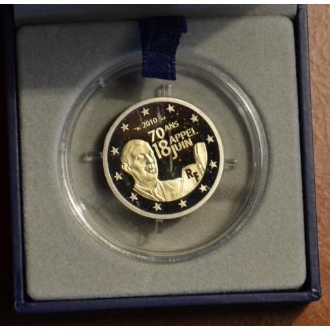 2 Euro Francúzsko 2010 - 70. výročie výzvy generála de Gaulla 18. júna (Proof)