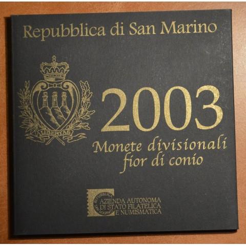 San Marino 2003 set with 5 Euro Ag coin (BU)