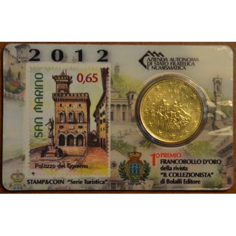 50 cent San Marino 2012 + stamp IV. (BU)