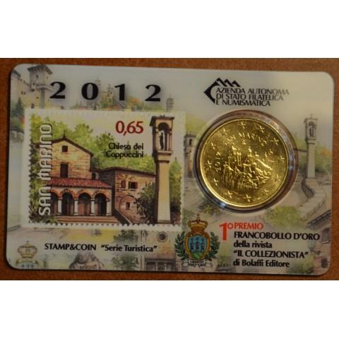 50 cent San Marino 2012 + stamp V. (BU)