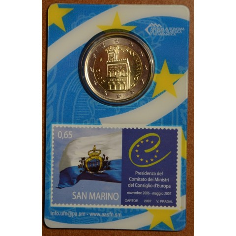 2 Euro San Marino 2012 - Government House (BU card with stamp)