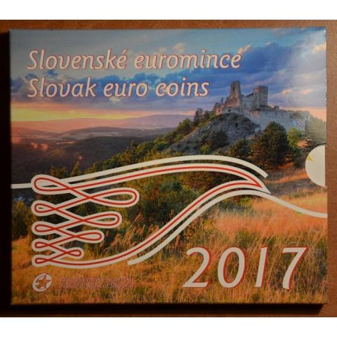 Set of 8 Slovak coins 2017 (BU)