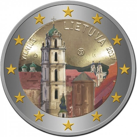 2 Euro Lithuania 2017 - Vilnius (colored UNC)