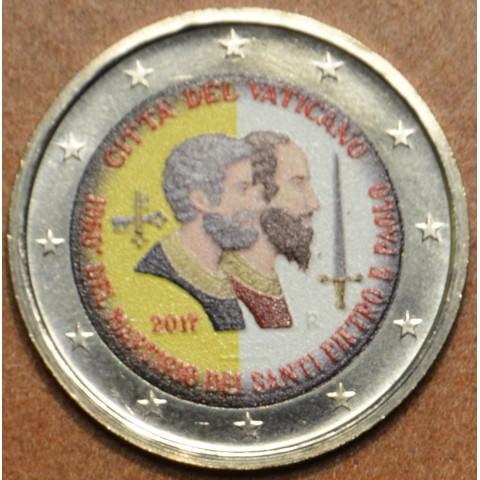 2 Euro Vatican 2017 - Saint Peter and Saint Paul (colored UNC)