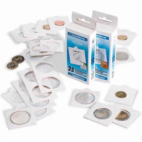 Leuchtturm samolepiace papierové púzdra na sadu euromincí (8 ks)