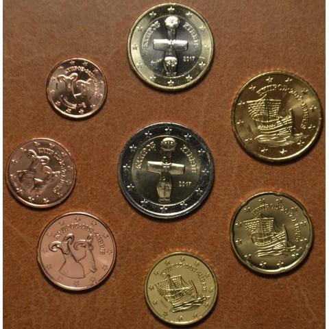 Set of 8 eurocoins Cyprus 2017 (UNC)