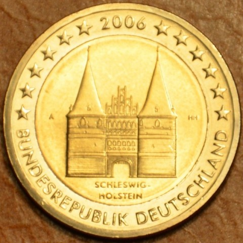 "2 Euro Germany ""A"" 2006 - Holstentor in Lübeck / Schleswig-Holstein (UNC)"