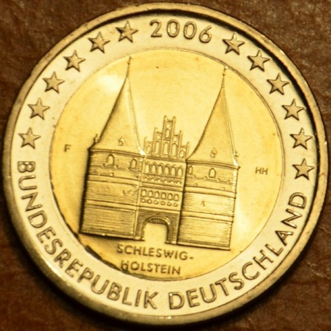 "2 Euro Germany ""F"" 2006 - Holstentor in Lübeck / Schleswig-Holstein (UNC)"