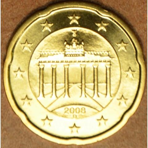 """20 cent Germany """"D"""" 2008 (UNC)"""