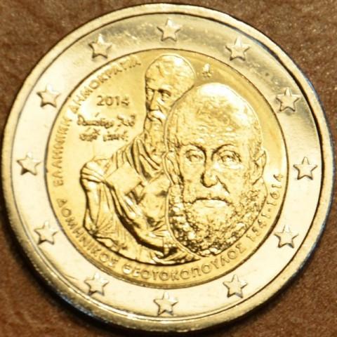 2 Euro Grécko 2014 - 400. výročie smrti Domenikosa Theotokopoula (UNC)