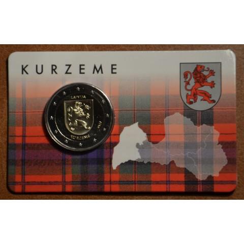 2 Euro Lotyšsko 2017 - Región Kurzeme (BU karta)
