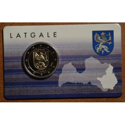 2 Euro Lotyšsko 2017 - Región Latgale (BU karta)