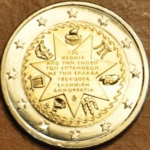2 Euro Grécko 2014 - 150. výročie únia Grécka a Iónskych ostrovov (UNC)