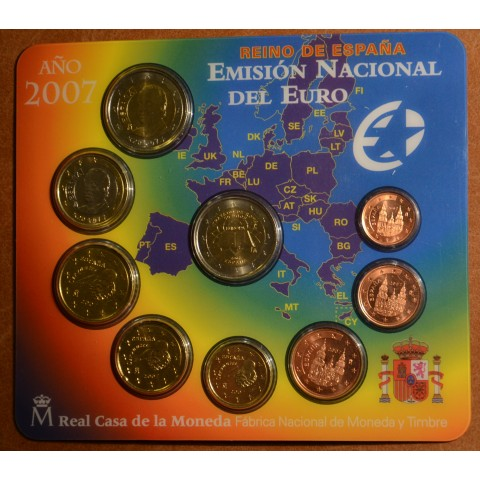 Official set of 9 Spanish coins 2007  (BU)