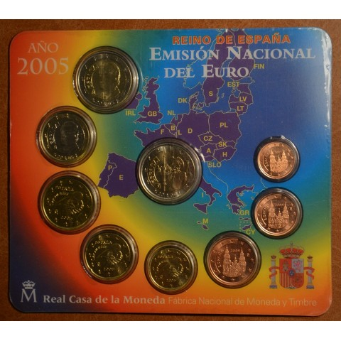 Official set of 9 Spanish coins 2005  (BU)