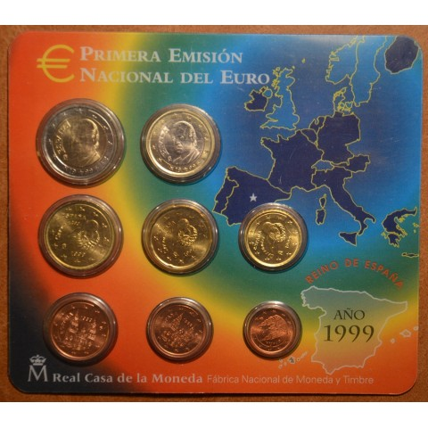 Official set of 8 Spanish coins 1999 (BU)