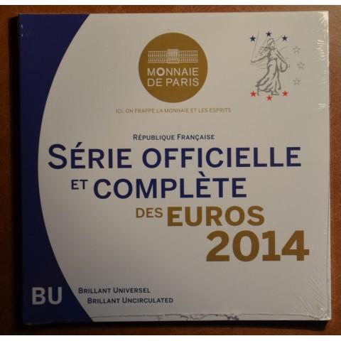 Set of 8 eurocoins France 2014 (BU)