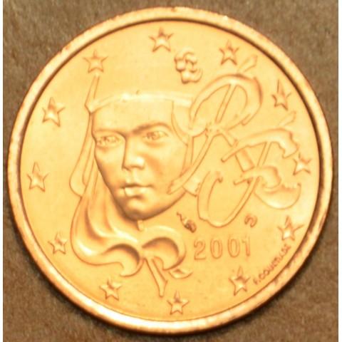 2 cent Francúzsko 2001 (UNC)