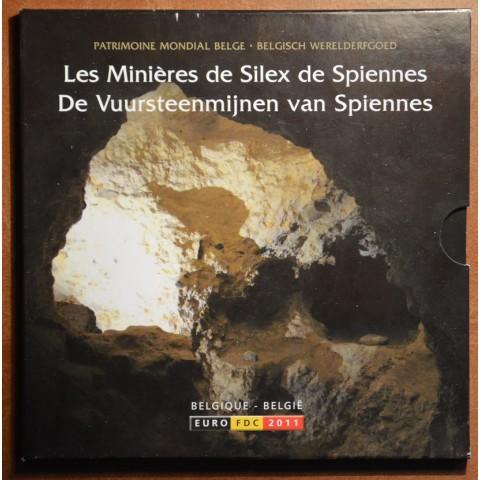 Sada 8 belgických mincí 2011 (BU)