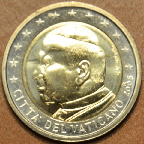 2 Euro Vatican His Holiness Pope John Paul II 2005 (BU)