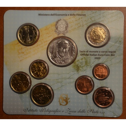 Official set of 9 Italian coins 2005  (BU)