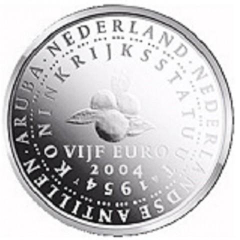 5 Euro Netherlands 2004 - 50 years Statute of the Kingdom of Netherlands  (UNC)