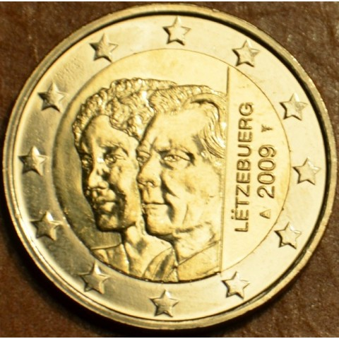 2 Euro Luxembursko 2009 - 90. výročie nastúpenia veľkovojvodkyňa Charlotte na trón (UNC)
