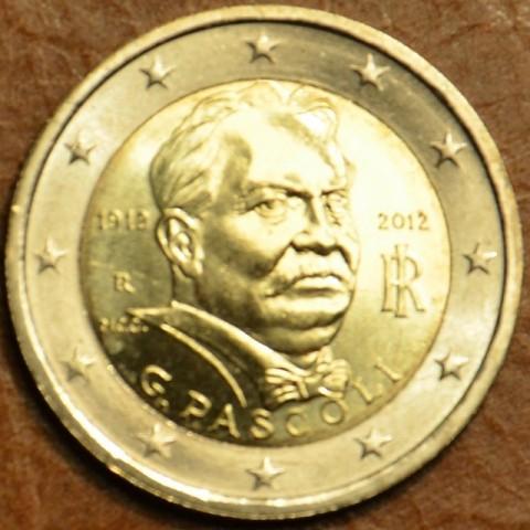 2 Euro Taliansko 2012 - 100. výročie úmrtia Giovanni Pascoli (UNC)
