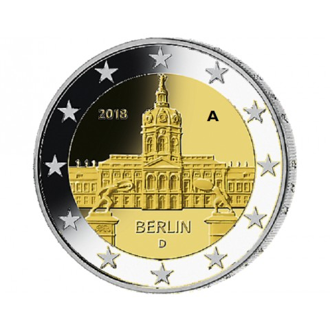 "2 Euro Germany ""A"" 2018 - Berlin:  Scharlottenburg (UNC)"