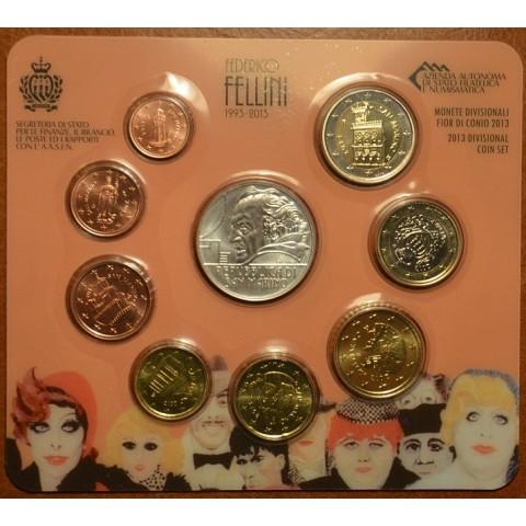 Official 9 coins set of San Marino 2013 (BU)
